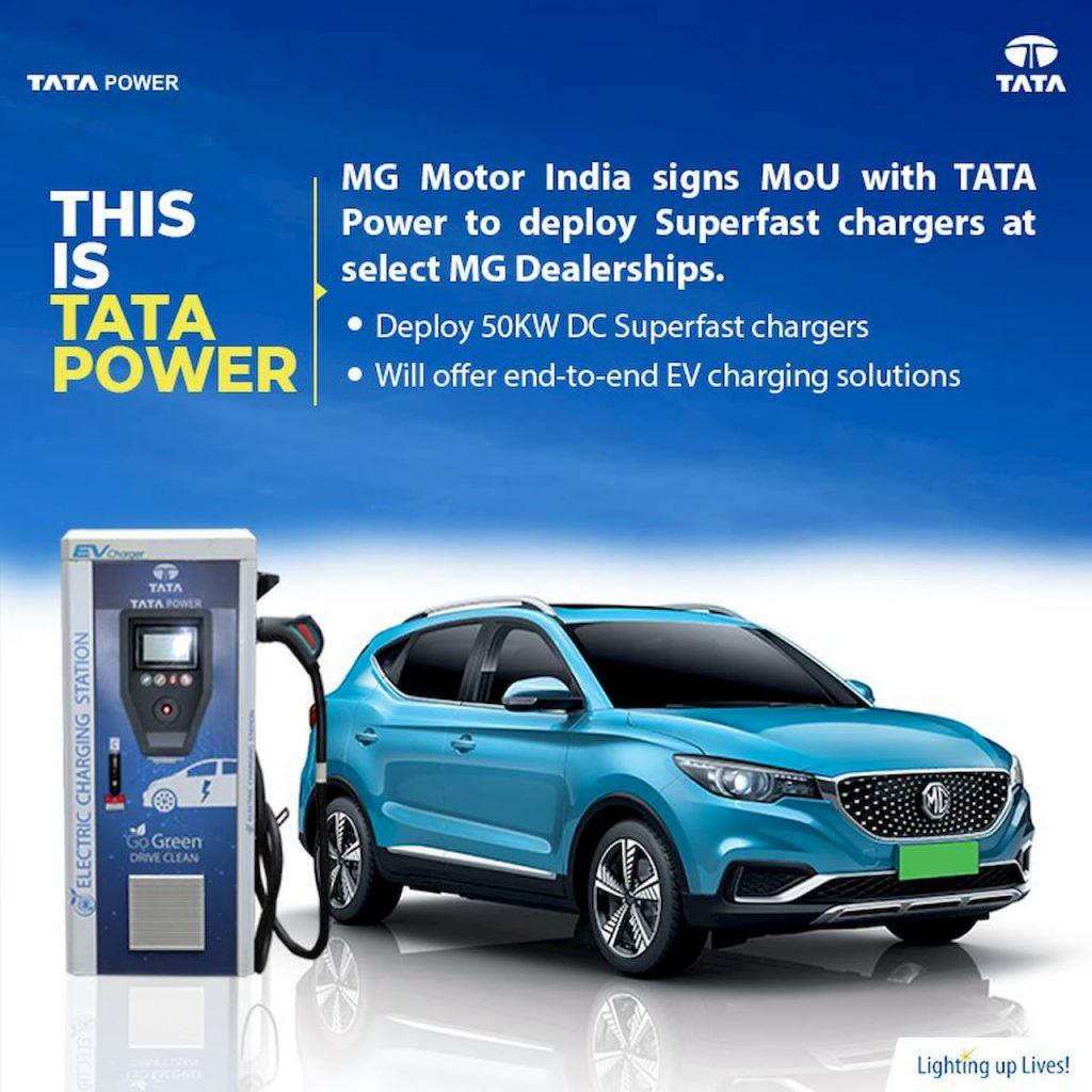Tata Power MG ZS EV charging point