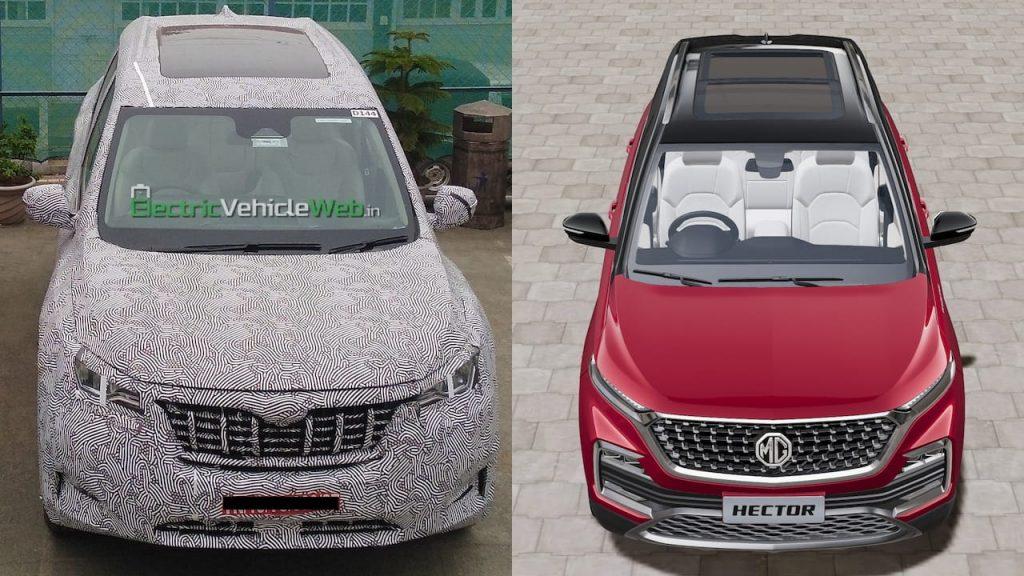 2021 Mahindra XUV500 vs 2021 MG Hector panoramic sunroof