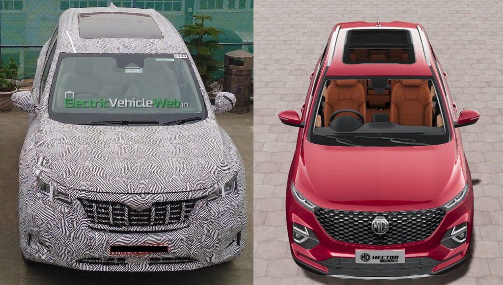 2021 Mahindra XUV500 vs MG Hector Plus panoramic sunroof
