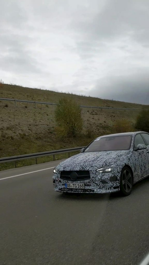 2021 Mercedes C-Class W206 front quarters spy shot