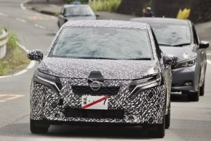 2021 Nissan Note front spy shot