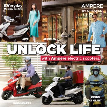Ampere electric scooters updated as part of new 'Unlock Life' campaign
