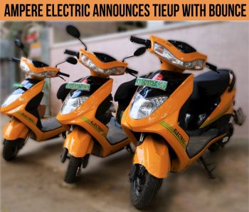 Ampere electric scooters to be available via Bounce rideshare platform