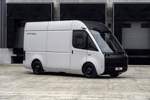 Arrival Van front three quarters left side