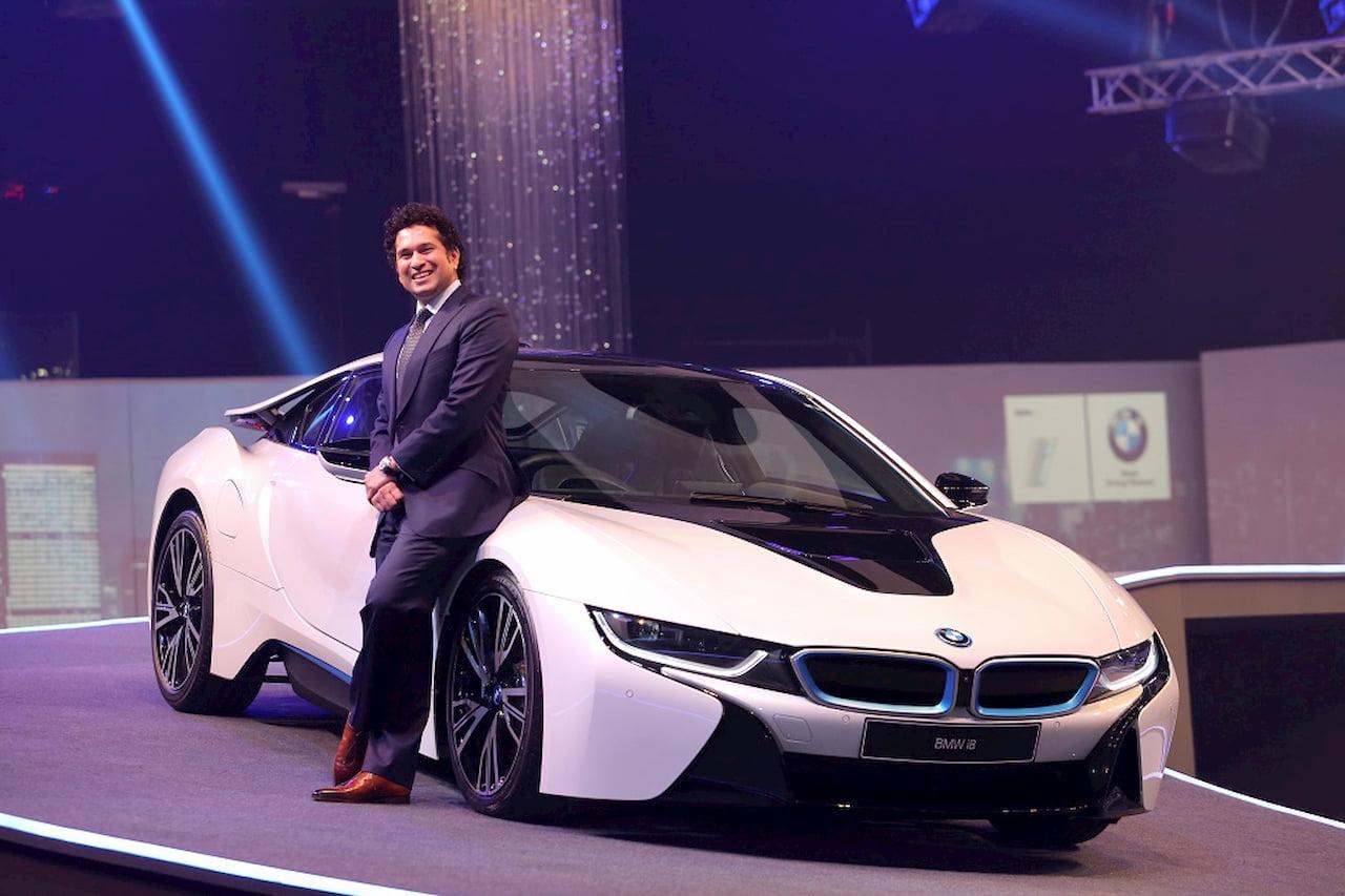BMW i8 Sachin Tendular India