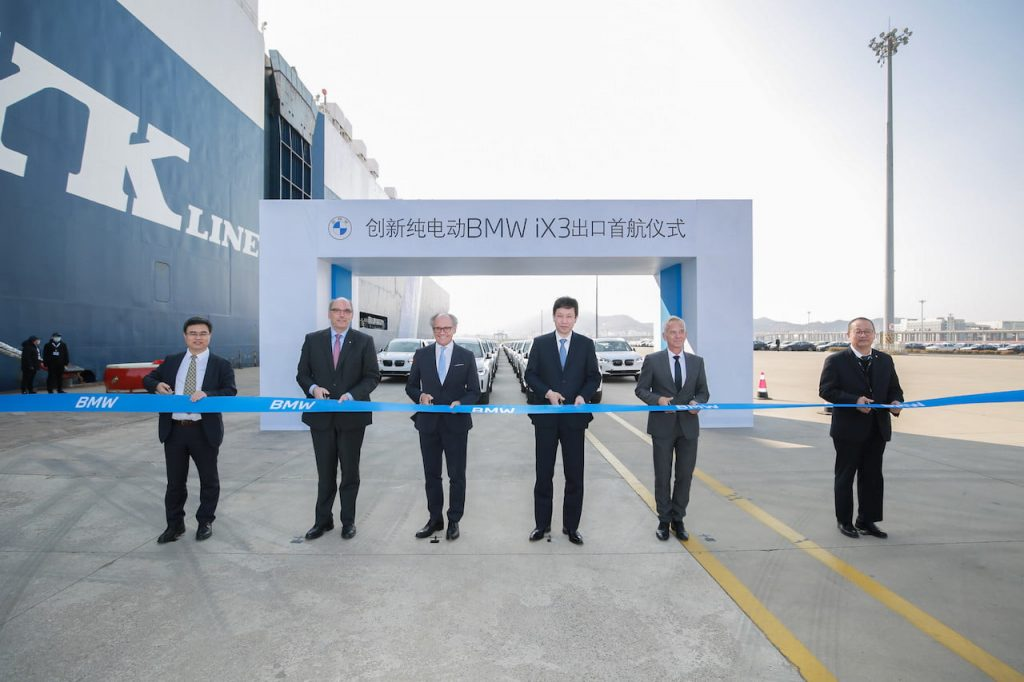BMW iX3 export commencement China