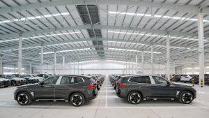 BMW iX3 export shipment
