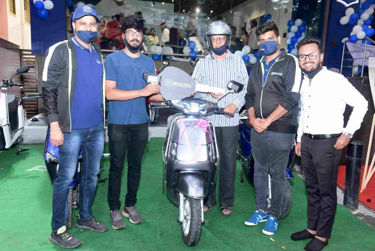 Bgauss electric scooter Bengaluru launch showroom