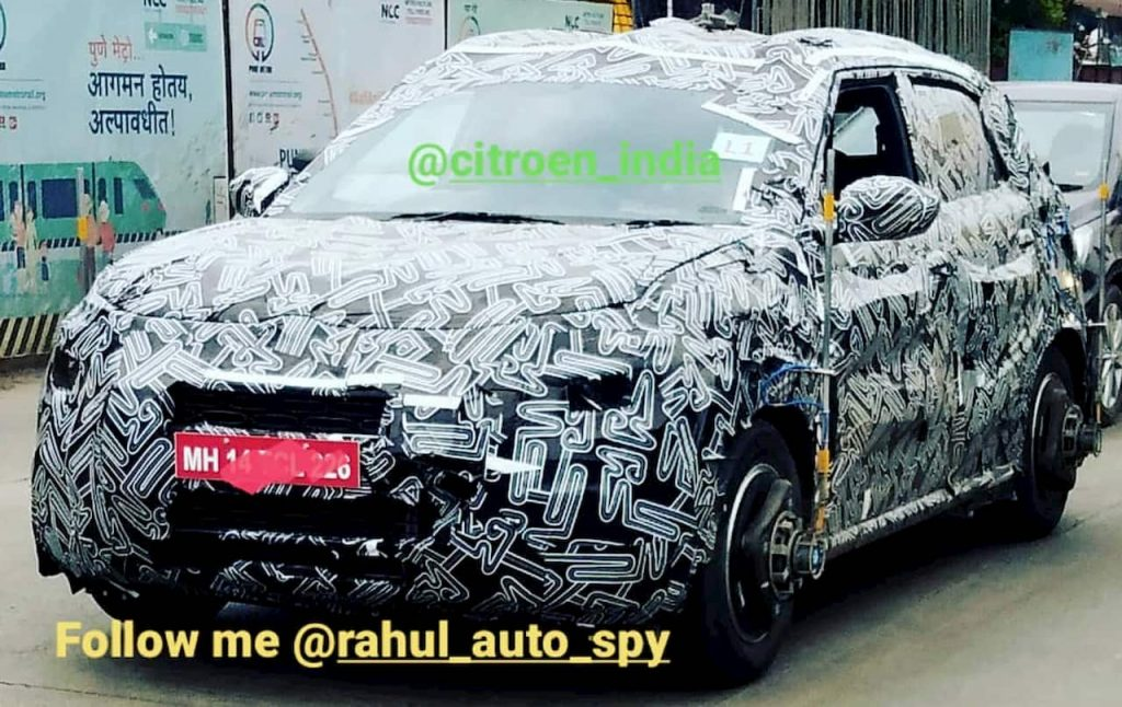 CC21 Citroen SUV India spyshot