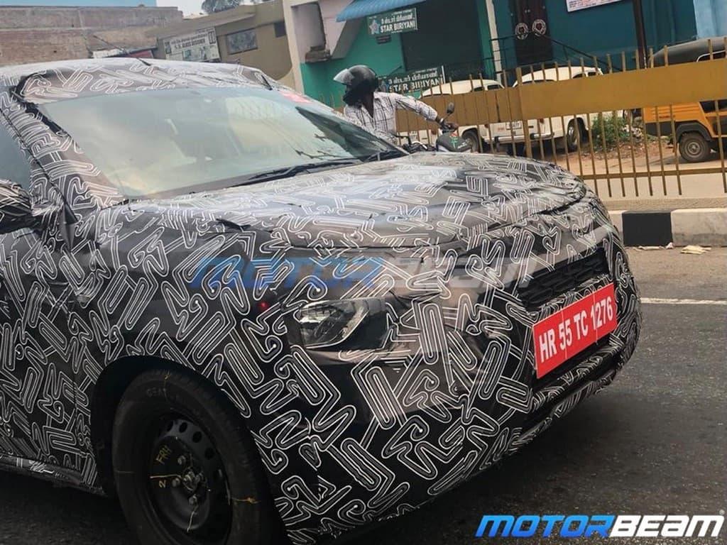 Citroen electric-ready CC21 SUV spyshot front