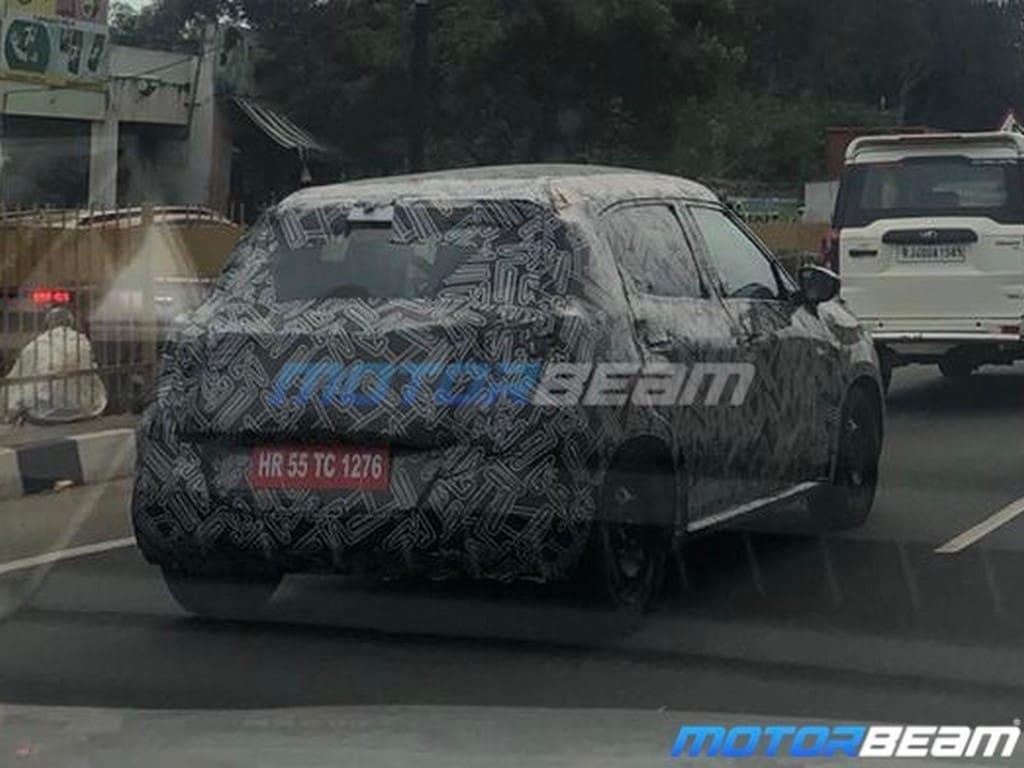 Citroen electric-ready CC21 SUV spyshot rear three quarters