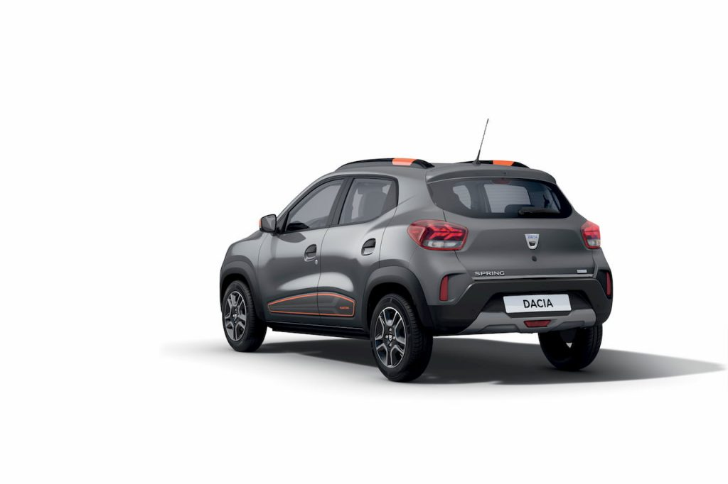 Dacia Spring Electric rear quarters