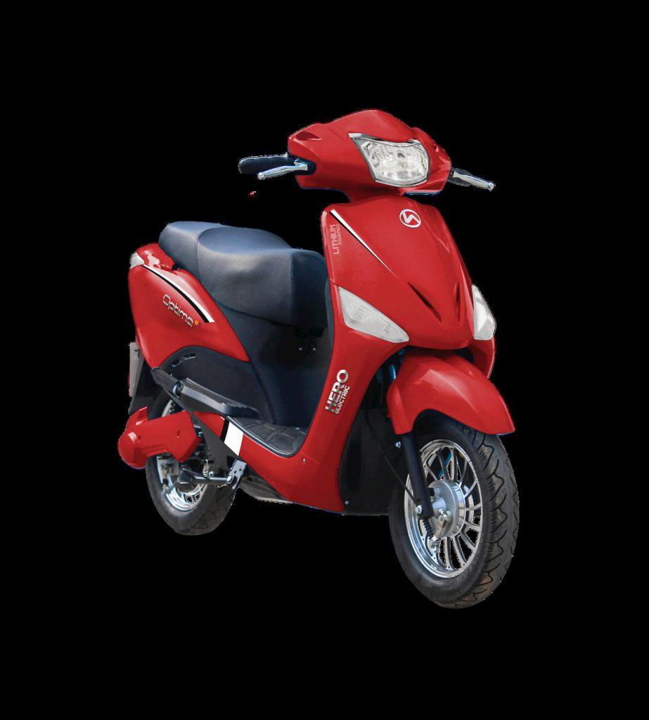 Hero Electric Optima HX red
