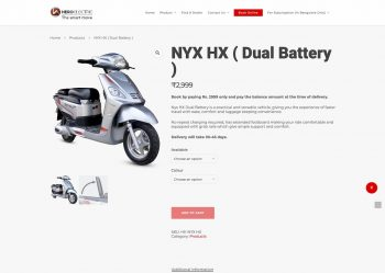 Hero Electric NYX HX electric scooter's correct range is 100 km