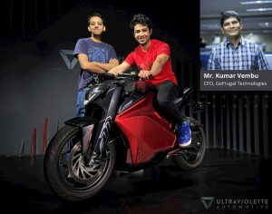Kumar Vembu of GoFrugal Technologies & Ultraviolette founders