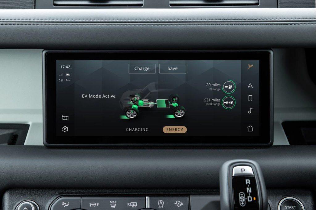 Land Rover Defender PHEV charging time