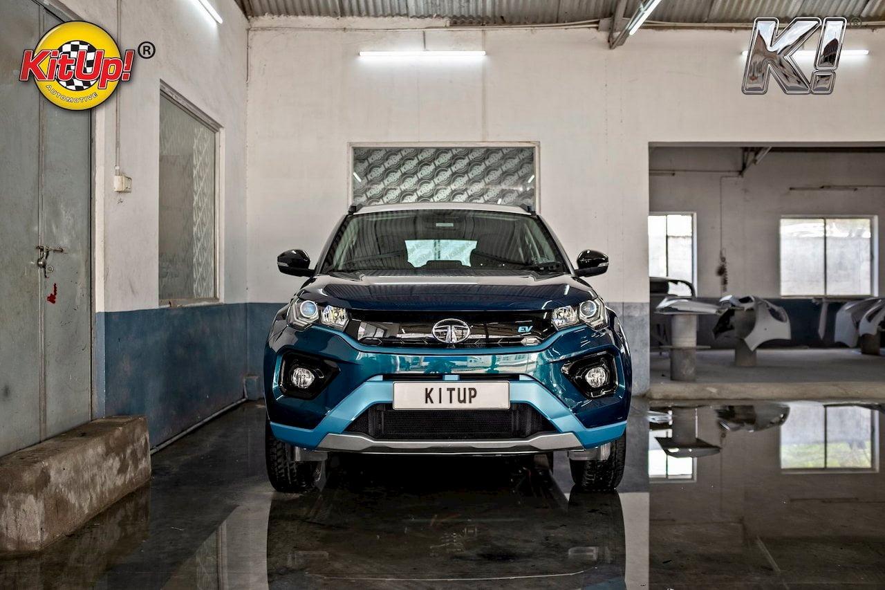 Modified Tata Nexon EV front quarters right side