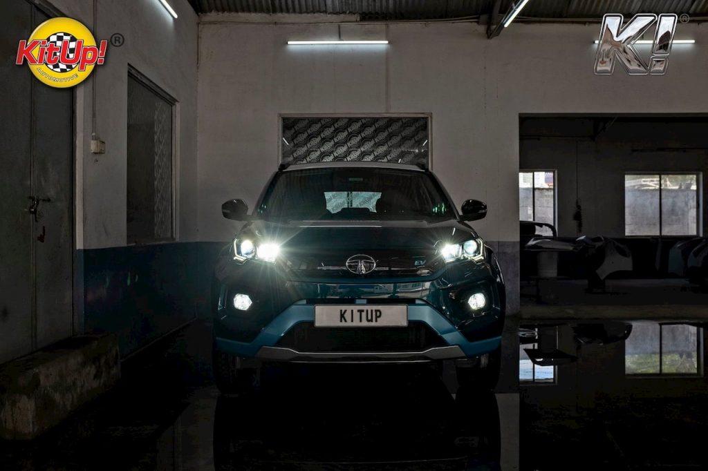 Modified Tata Nexon EV lights