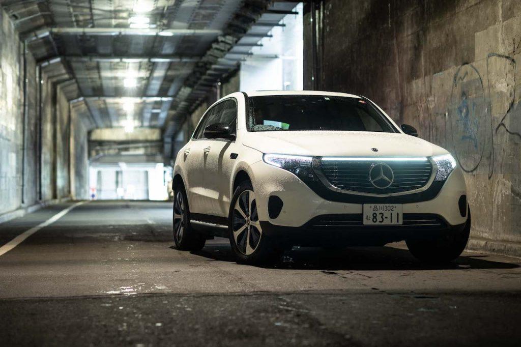RHD Mercedes EQC white front quarters