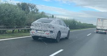 Skoda Enyaq Coupe's high rear deck revealed in new spy photo