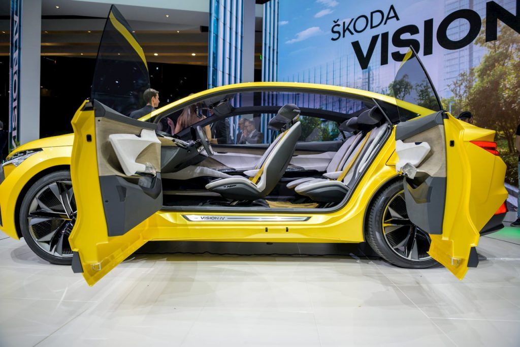 Skoda Vision iV concept doors cabin