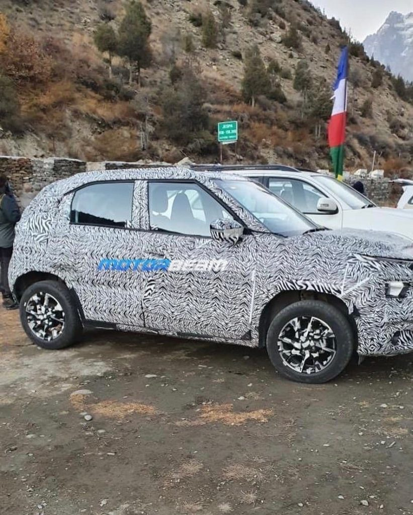 Tata HBX side spy shot