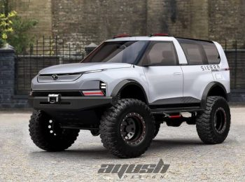 Tata Sierra EV based Monster Truck rendered