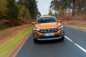2021 Dacia Sandero Stepway front test drive