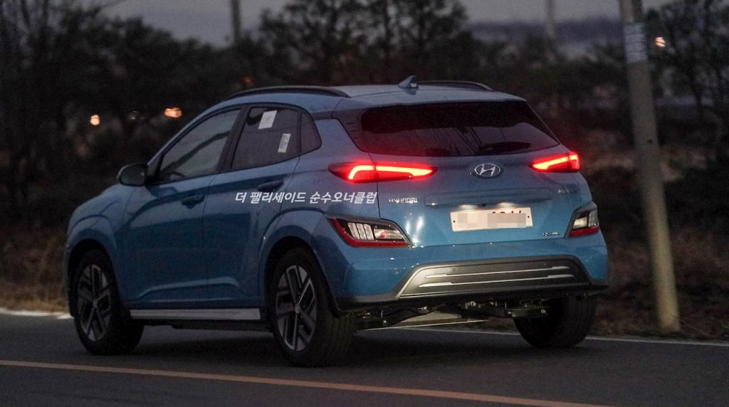 2021 Hyundai Kona EV spotted