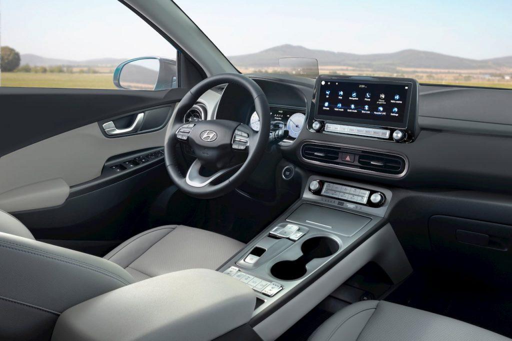 2021 Hyundai Kona Electric facelift dashboard driver side