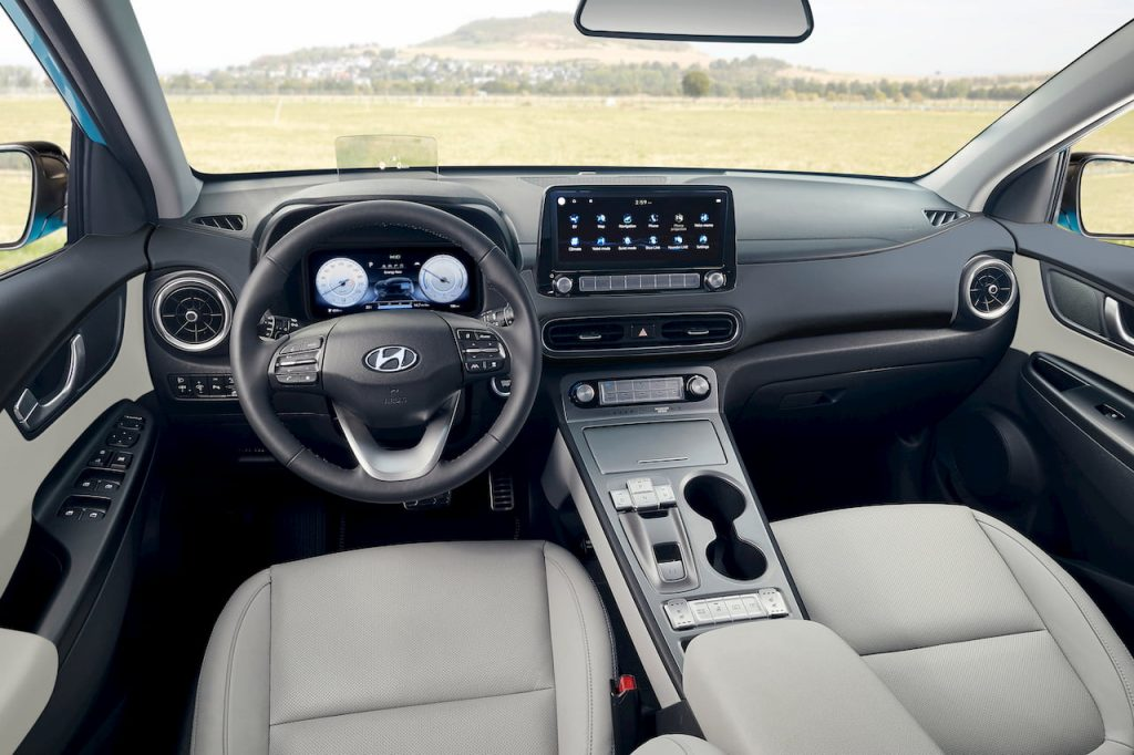 2021 Hyundai Kona Electric facelift interior dashboard