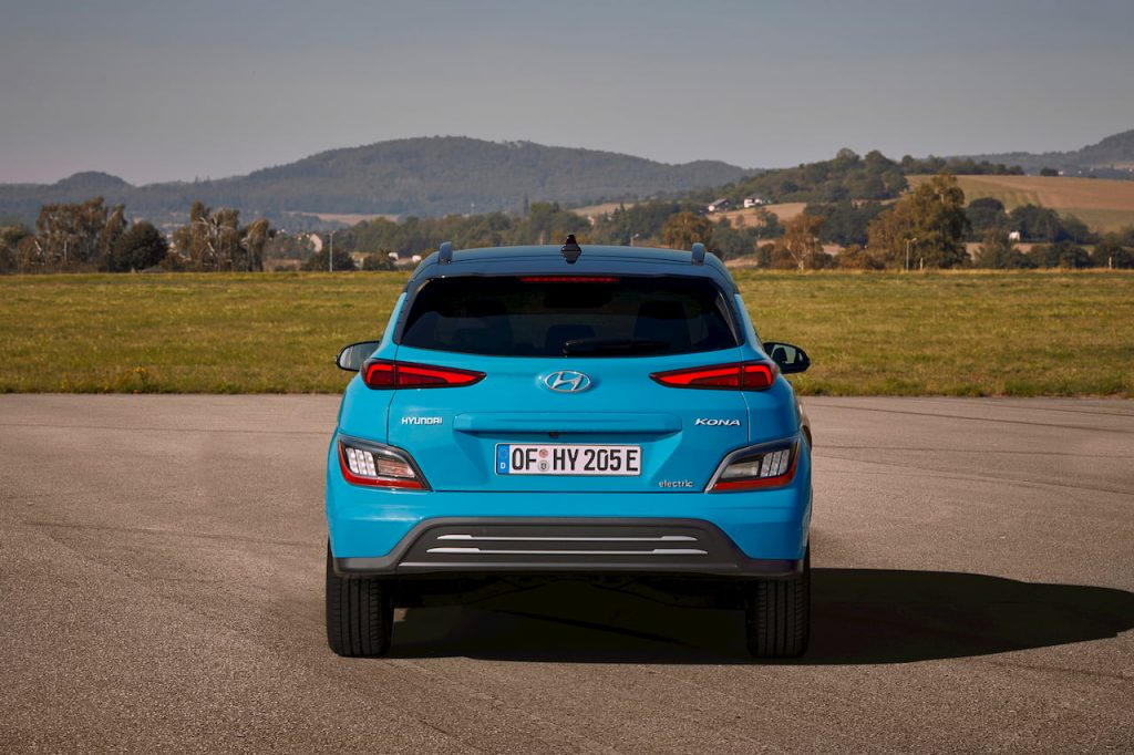 2021 Hyundai Kona Electric facelift rear
