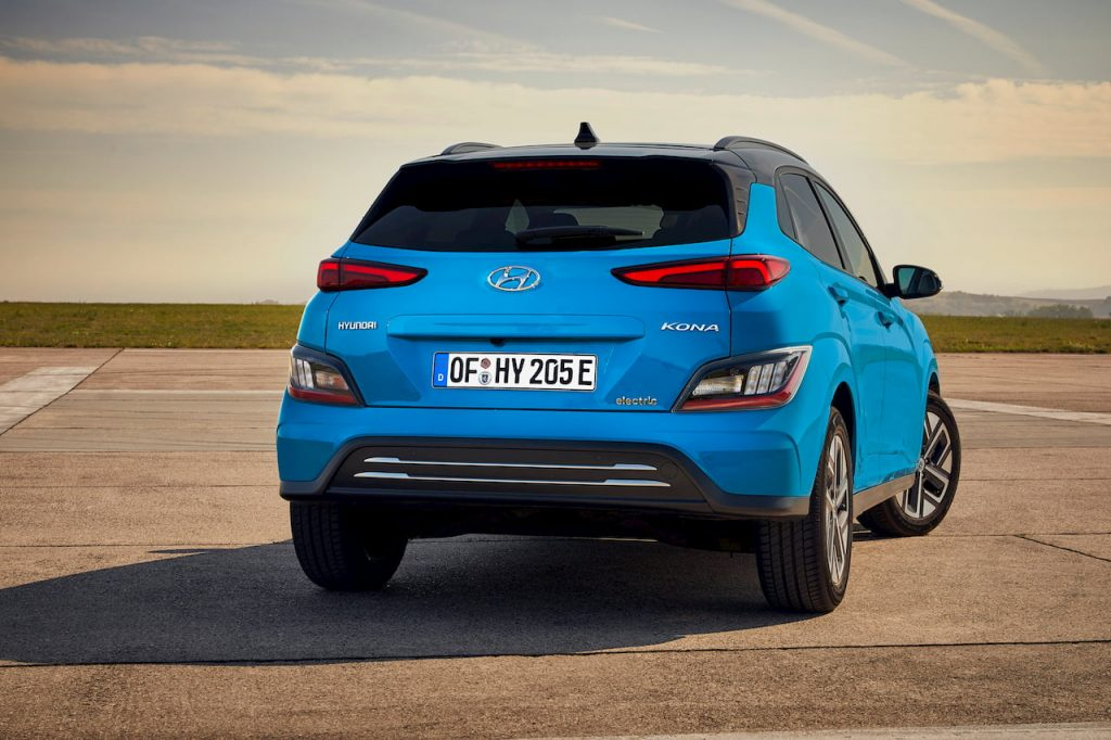 2021 Hyundai Kona Electric facelift rear quarters