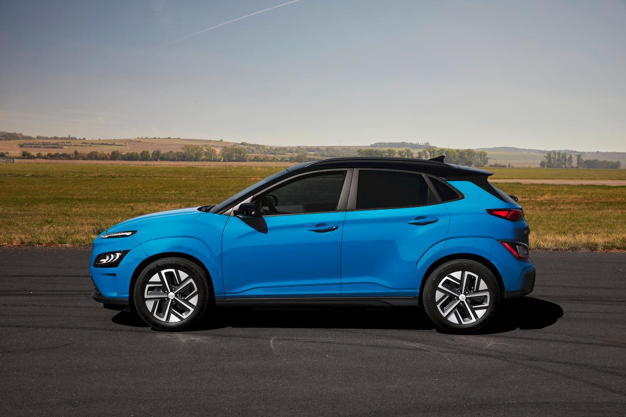 2021 Hyundai Kona Electric facelift side profile