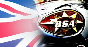 BSA motorcycle tank logo (likely to be on the BSA electric bike)