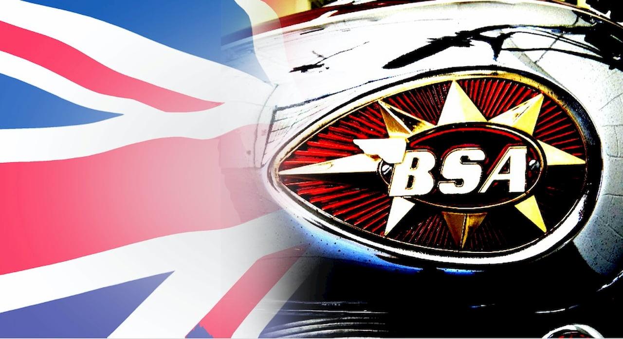BSA motorcycle tank logo
