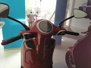 Bajaj Chetak electric scooter red