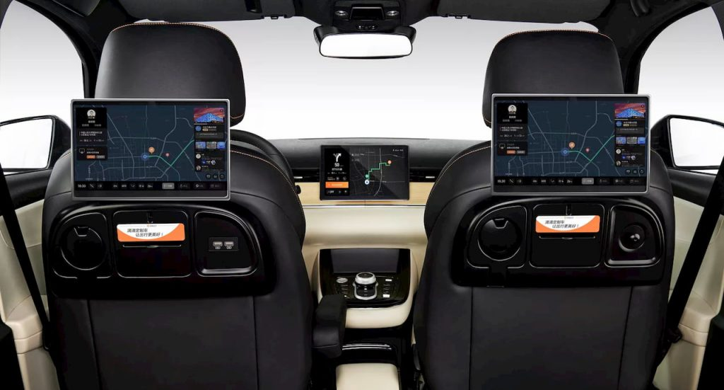 DiDi BYD D1 interior rear displays