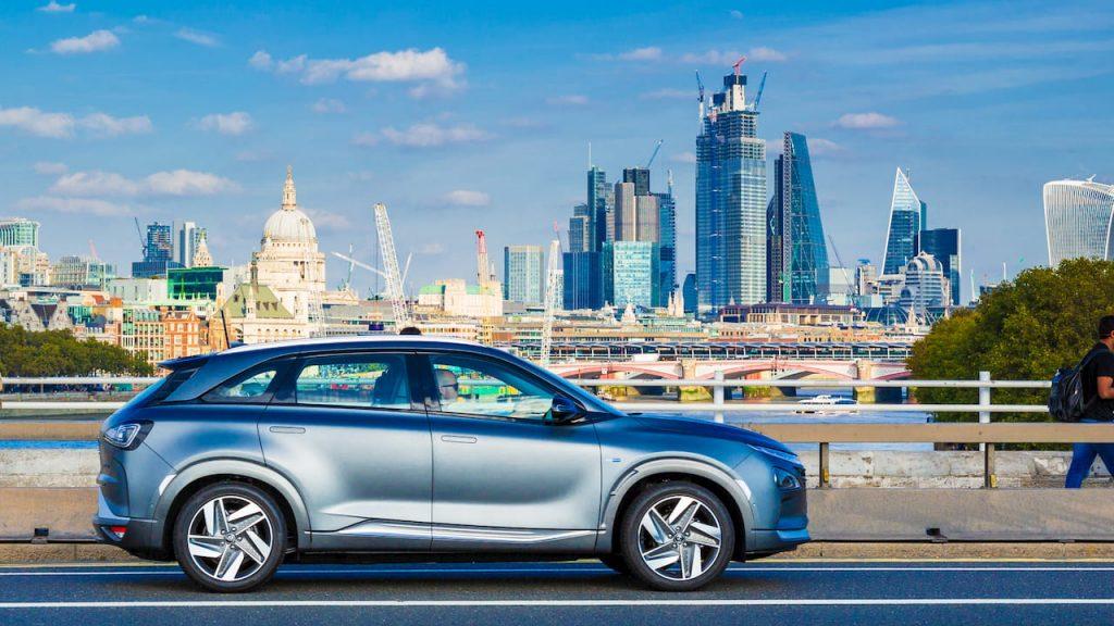 Hyundai Nexo profile side London