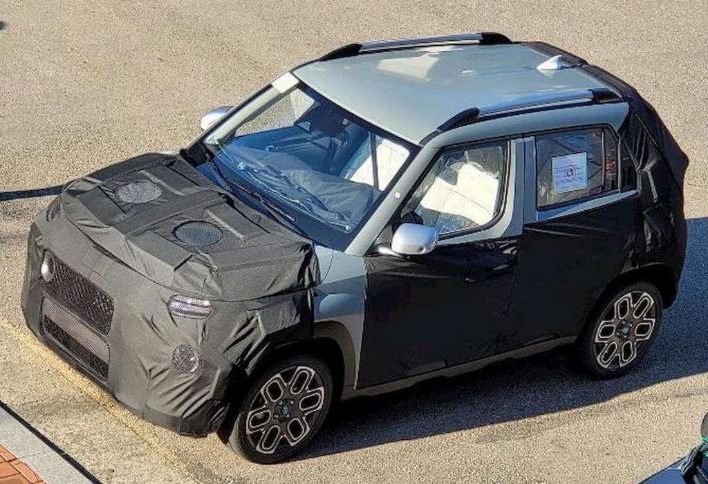 Hyundai micro SUV AX spy shot
