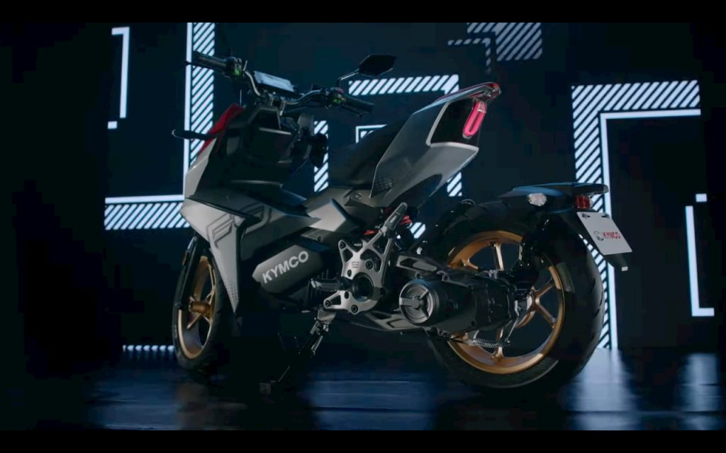 KYMCO K9 electric motorcycle rear three quarters