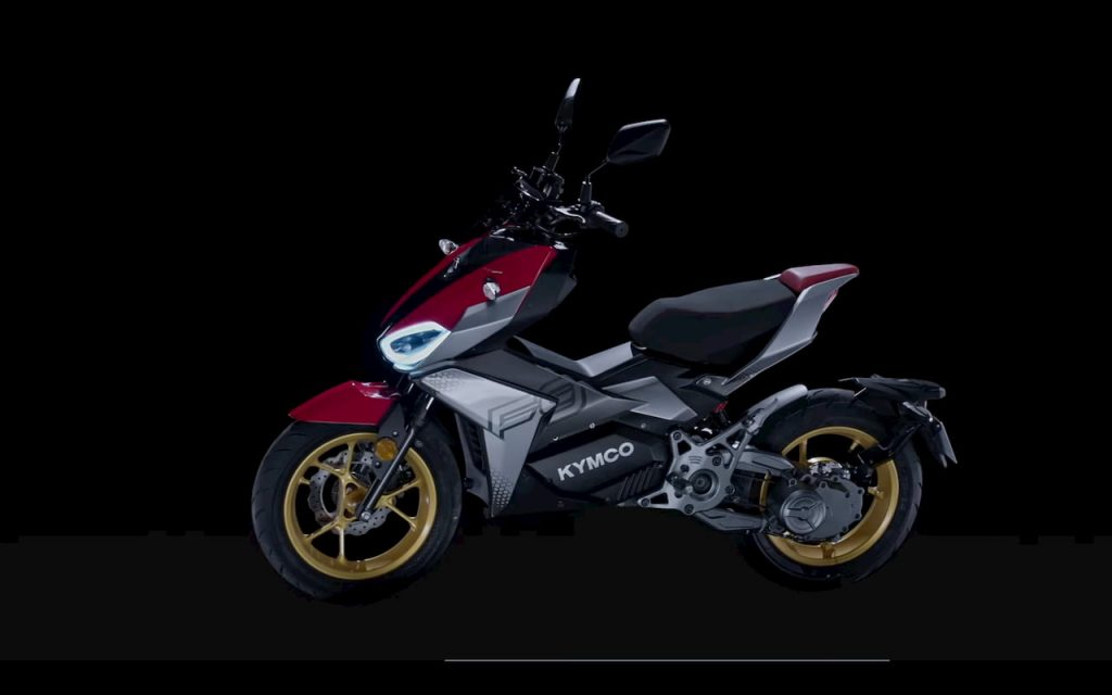 KYMCO K9 electric motorcycle side