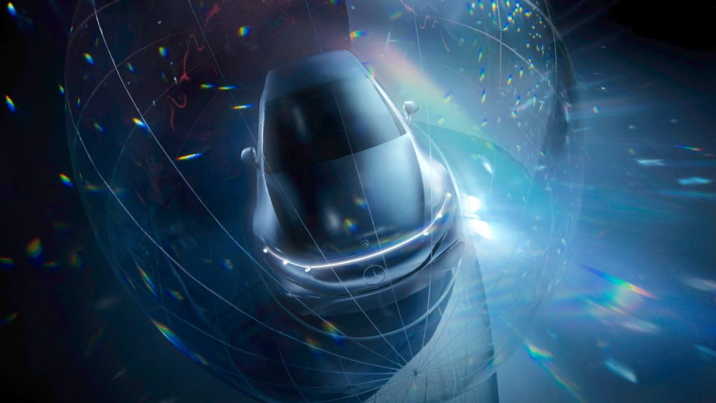 Mercedes EQS sedan teaser