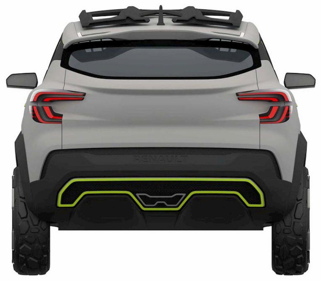 Renault Kiger concept rear patent image
