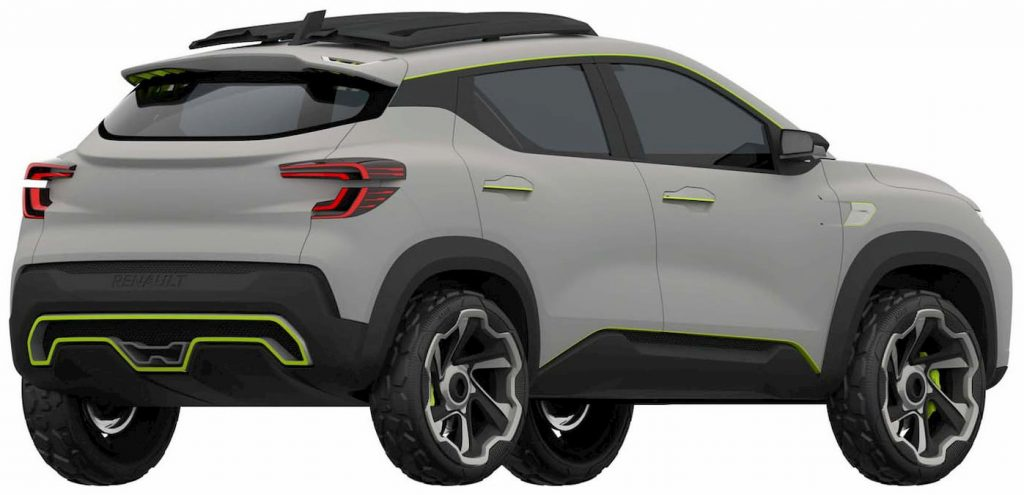 Renault Kiger concept rear quarters patent image