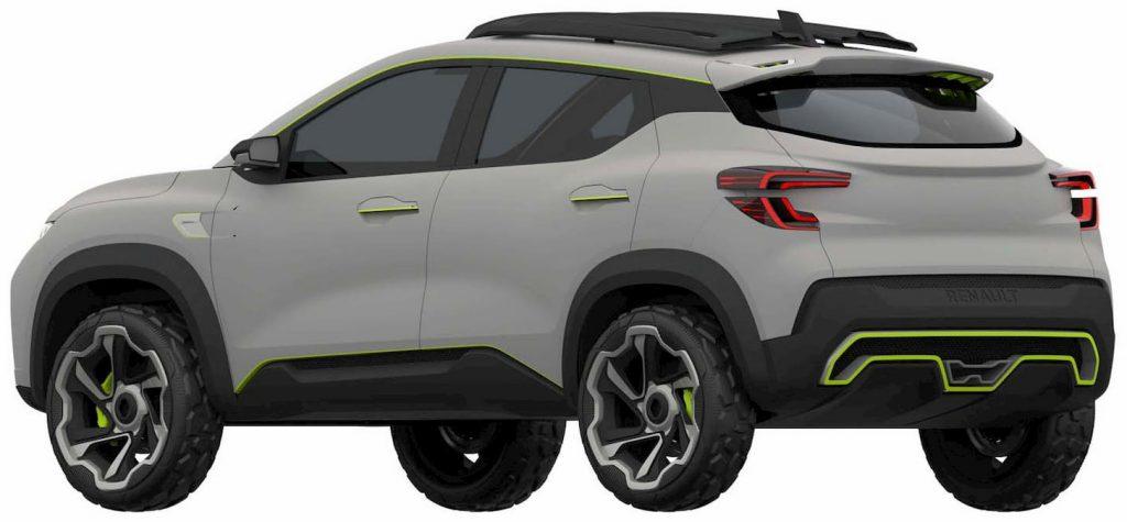 Renault Kiger concept rear three quarters patent image