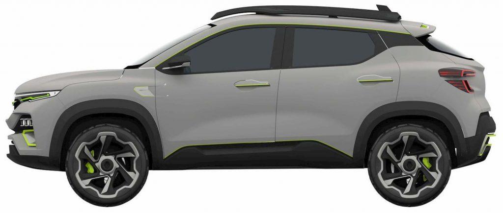 Renault Kiger concept side patent image