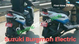 Suzuki Burgman electric scooter spotted