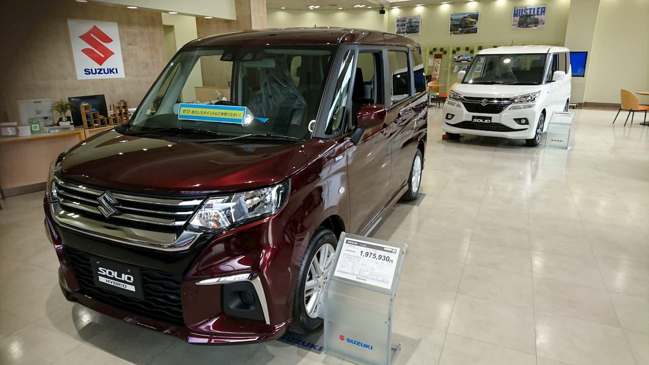 Suzuki Solio Hybrid at Japanese dealership