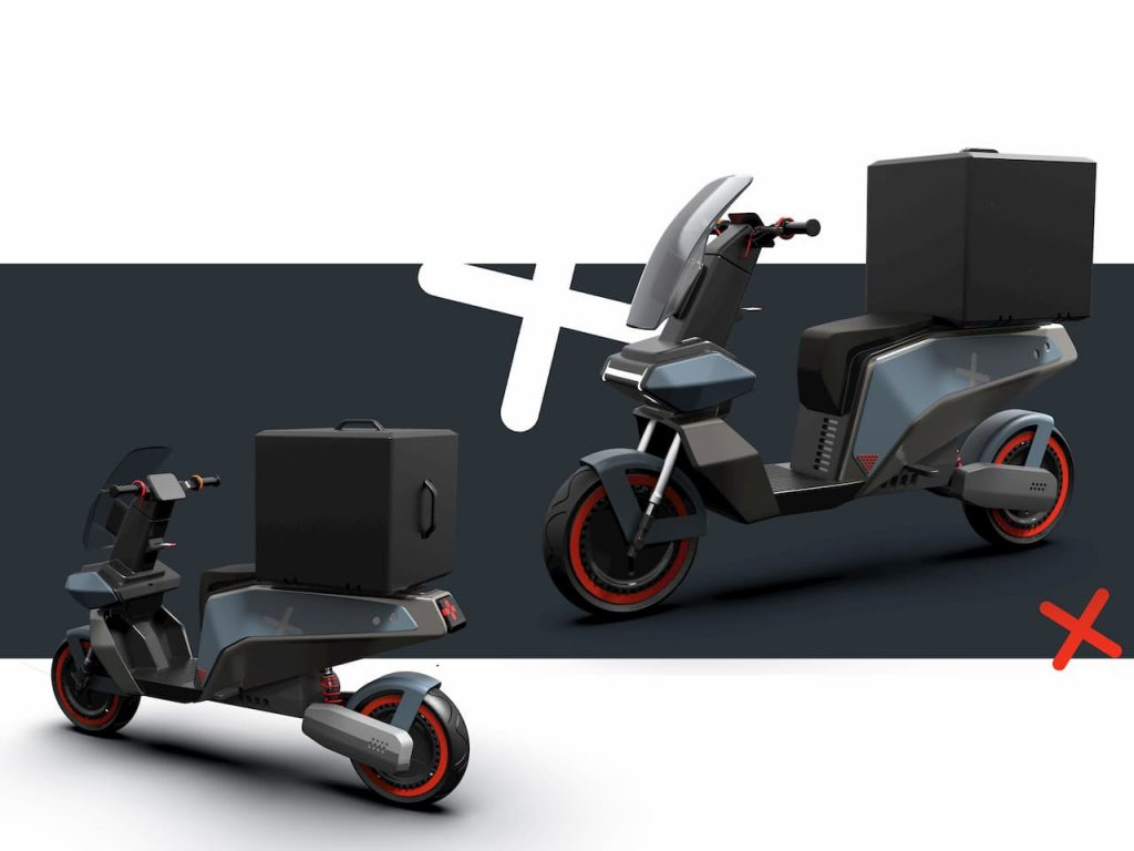 XScoot electric scooter box by Rugved Patil